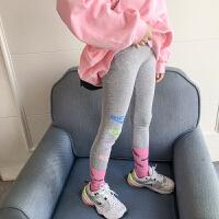 女童打底裤春秋外穿时尚灰色修身长裤儿童裤子