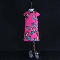 2018秋冬女童小半袖旗袍儿童改良民族服装款连衣裙宝宝加厚过年款
