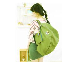 普润 多功能变换可折叠收纳包 单肩包 双肩背包绿色