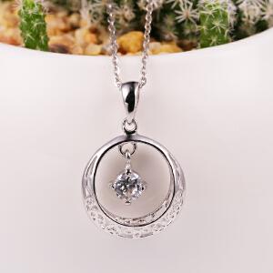 梦 梵雅925纯银项链女生日韩版锁骨吊坠挂件银饰品首饰礼物