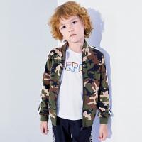 【3件6折】小猪班纳童装男童立领外套2019秋装新款儿童风衣中大童拉链衫潮