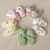 davebella戴维贝拉男女宝宝婴儿秋季新款居家动物拖鞋