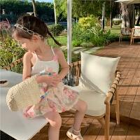 女童连衣裙夏季吊带童装套装儿童夏装两件套裙子