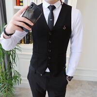 短款商务绅士马夹韩版修身青年夜店发型师西装马甲英伦百搭男春季