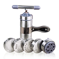小型面条机家用手动 手摇手拧压面机挤面不锈钢��机五磨具压面机手动家用多功能河捞面条机莜面栲栳栳