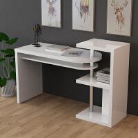 现代简约书桌 台式电脑桌 卧室家用写字台 转角烤漆书柜书架组合
