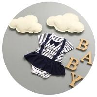 新生儿连体衣夏季女宝宝3裙子6三角哈衣9个月婴儿包屁衣百天衣服