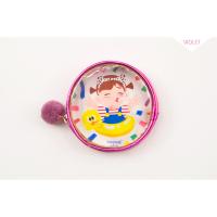 棒棒透明小零钱包耳机数据线收纳整理包 可爱卡通毛球硬币包