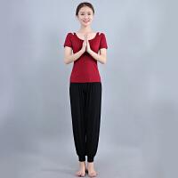 秋冬黑色瑜伽服套装显瘦中长袖愈加服女灯笼裤练功健身服