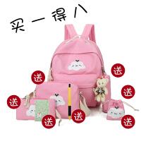 儿童书包小学生2-3-4-5-6年级男童女童双肩背书包潮 双猫 粉色买一得八