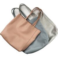 新款欧美头层牛皮托特包tote手提单肩女包简约百搭软皮大包包