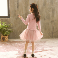韩版秋冬儿童装连衣裙小女孩针织洋气公主裙女童毛衣裙子