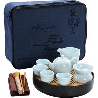 陶瓷功夫茶具便携式旅行包套组整套茶壶茶杯简约家用旅游茶盘