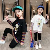 女童套装2020新款春款时尚时髦韩版网红夏装春季霸气帅气运动