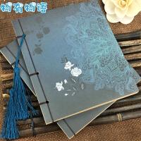 古风本子 牛皮本中国风记事本笔记本文具复古日记本创意涂鸦日记