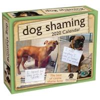 英文原版 狗狗道歉贴2020年日历 每天一页 萌宠摄影 幽默礼物 Dog Shaming 2020 Day-To-Day Calendar 桌面摆件 办公室
