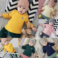 婴儿加绒上衣冬季高领打底内衣新生儿宝宝绒衫0-3-6-9-12个月冬装