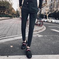 2018春夏社会英伦小青年九分休闲裤男绅士格子西裤小脚裤潮流时尚