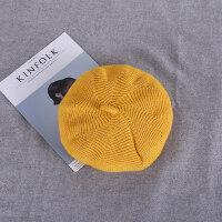 简约时尚画家帽软妹蓓蕾帽子女加厚纯色纯毛呢针织毛线贝雷帽