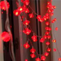 彩灯闪灯串灯过年装饰灯元宵小红灯笼婚房春节中国结新年灯