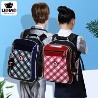 【台湾进口】小学生书包男童1-3-6一年级小孩台湾unme英伦风儿童女双肩减负背包