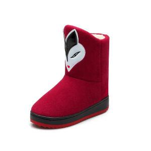 O'SHELL法国欧希尔新品冬季159-A-7001韩版磨砂绒面平跟女士雪地靴