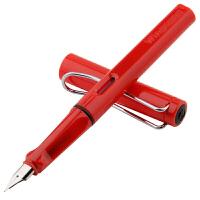 永生 正姿铱金钢笔 EF尖【吸墨器+六个墨囊】红色笔杆 小清新系列 矫姿直液式换囊钢笔 9166 当当自营