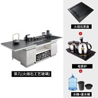 多功能升降功夫茶几电动简约现代火烧石带电磁炉自动上水茶桌整装 +电茶炉 整装