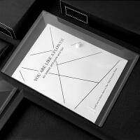 广博10个装加厚按扣透明文件袋办公资料袋学生试卷袋文件夹 A6329