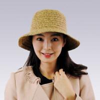 韩版潮蝴蝶结时装帽礼帽可折叠休闲帽子女士秋冬盆帽