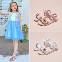 女童凉鞋儿童公主鞋夏季学生中大童鞋小女孩花朵
