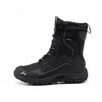 冬季户外雪地靴男女防水保暖加绒防滑登山靴大码东北滑雪棉鞋 黑色 运动鞋标准码