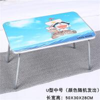 电脑桌 折叠式床上学习桌电脑桌可折叠桌学习简约小桌子大学生做桌懒人桌宿舍神床上书桌W