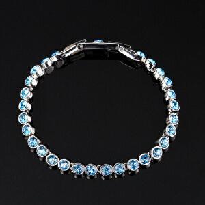 专柜正品施华洛世奇时尚轻奢蓝色水晶手链首饰1179709