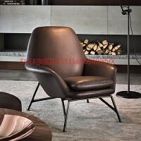 北欧单人沙发 简约现代师创意休闲布艺沙发椅小户型 老虎椅子 单人