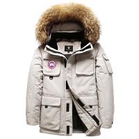 工装短款迷彩羽绒服男大毛领户外加厚滑雪羽绒衣冬装外套鹅新品