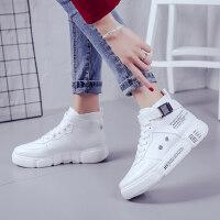 韩版冬季加绒棉鞋高帮帆布小白女鞋休闲百搭运动板鞋