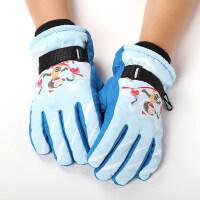 男童女童加厚加绒卡通可爱防滑防风防寒滑雪儿童保暖手套