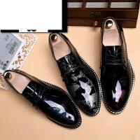 男士亮面皮鞋英伦冬季尖头婚鞋男士商务正装皮鞋休闲增高皮鞋青年鞋小皮鞋