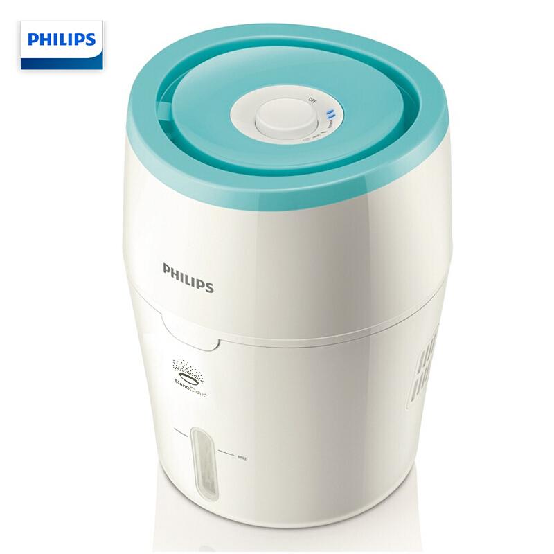 飞利浦(PHILIPS)加湿器HU4706/02 粉色  纳米无雾 迷你静音办公室卧室家用加湿加湿器 HU4801 上加水 纳米无雾 静音办公室婴儿卧室家用空气加湿 双重加湿速度选择,带来8小时的湿润!