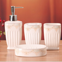 陶瓷卫浴四件套装 欧式陶瓷卫浴洗漱用品套装卫浴 X1201