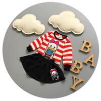 女童长袖裙子套装春秋0-1-2岁婴儿两件套纯棉公主裙6-9个月秋装潮