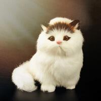 仿真动物模型儿童动物小猫咪毛绒玩具仿真猫咪会叫的猫玩偶公仔