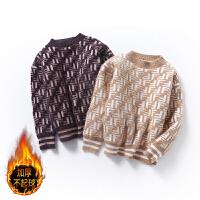 男女童秋冬款韩版保暖针织打底衫棉长袖加绒宝宝衣潮儿童毛衣