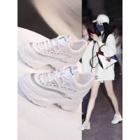 老爹鞋女户外韩版百搭时尚小白厚底内增高运动鞋