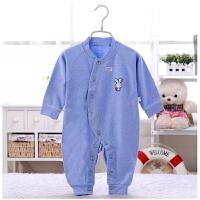 婴儿衣服春夏款棉连体衣新生儿睡衣爬爬服3-6-9-12个月宝宝衣服
