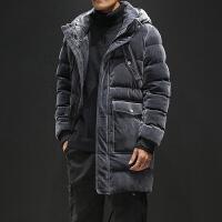 男士外套冬季新款棉袄韩版中长款羽绒棉服帅气男装棉衣加厚