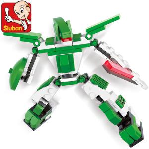 【当当自营】小鲁班星际变形机甲系列儿童益智拼装积木玩具 雷龙-灵泉斯M38-B0385
