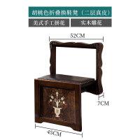 折叠换鞋凳墙折叠椅实木隐形壁挂式折叠凳玄关折叠壁凳进门穿鞋凳
