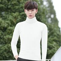 毛线衣男毛衫男士高领毛衣男修身针织衫加厚冬季韩版打底衫男帅气